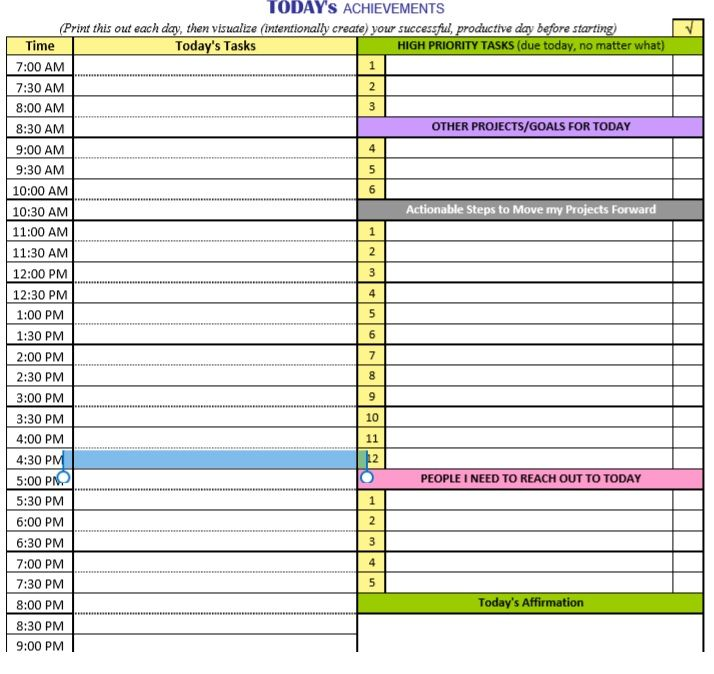 daily planner template 14