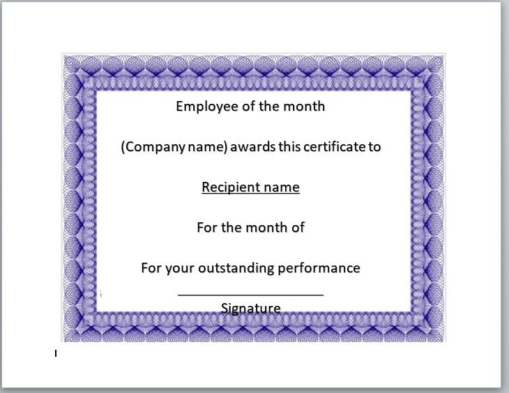15 Free Employee of The Year Certificate Templates