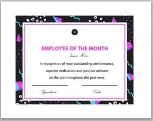 employee of the year certificate template 05