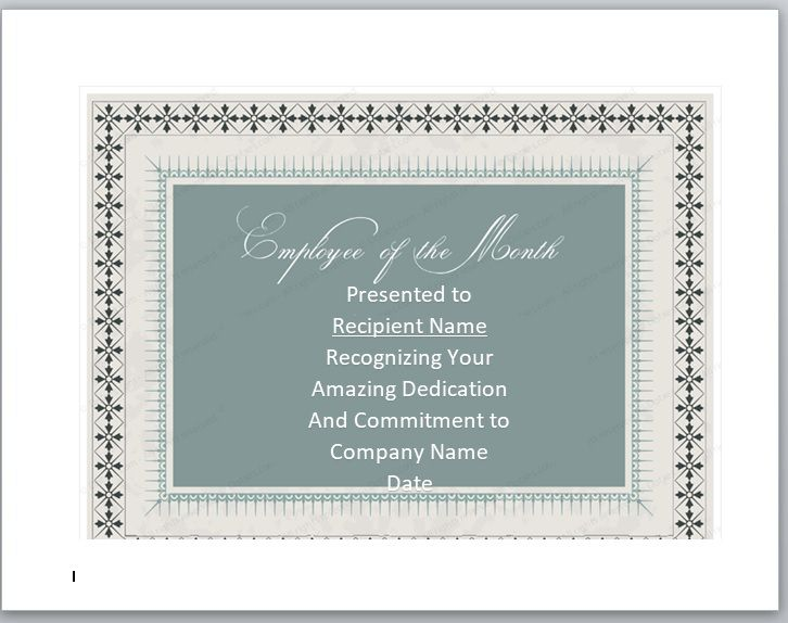 Employee of The Year Certificate Template 06