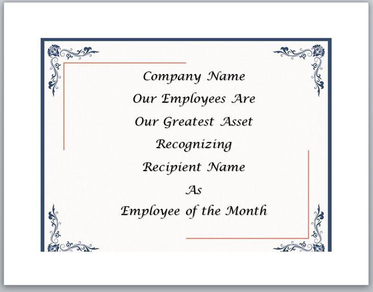 Employee of The Year Certificate Template 07