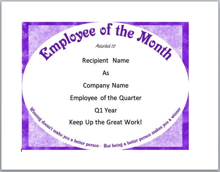 Employee of The Year Certificate Template 08