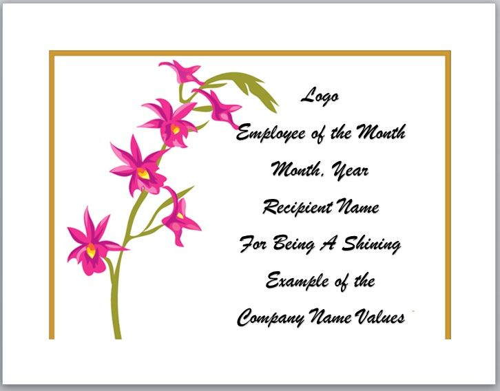 Employee of The Year Certificate Template 09