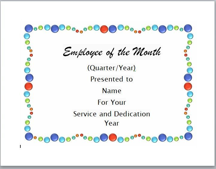 Employee of The Year Certificate Template 10