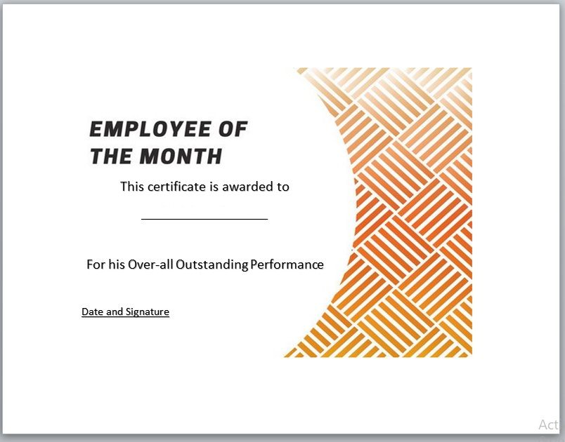 Employee of The Year Certificate Template 13