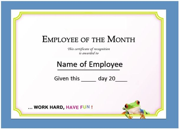 Employee of The Year Certificate Template 15