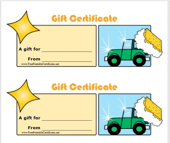15 Free Gift Certificate Templates