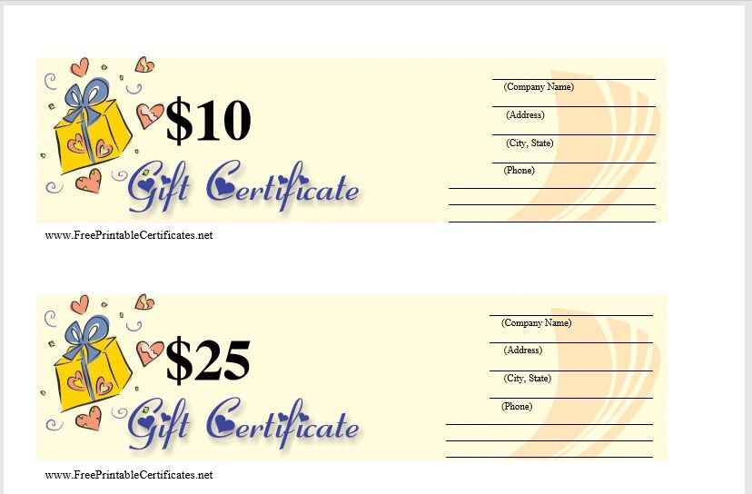 Gift Certificate Template 07