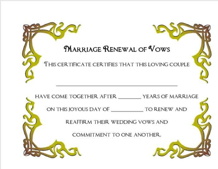 Marriage Certificate Template 07