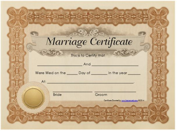 Marriage Certificate Template 08