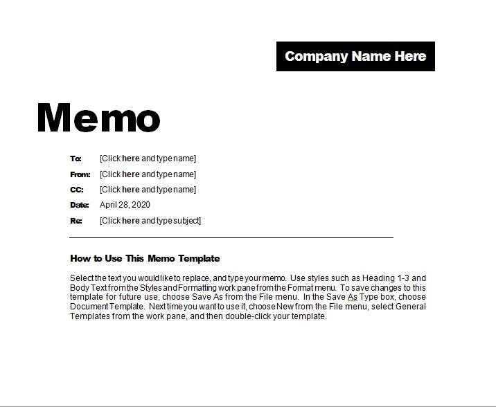 17 Free Memo Templates