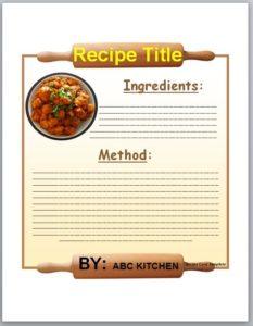 recipe card template 02