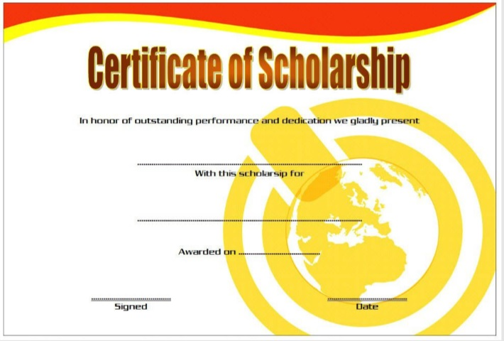 scholarship certificate template 01