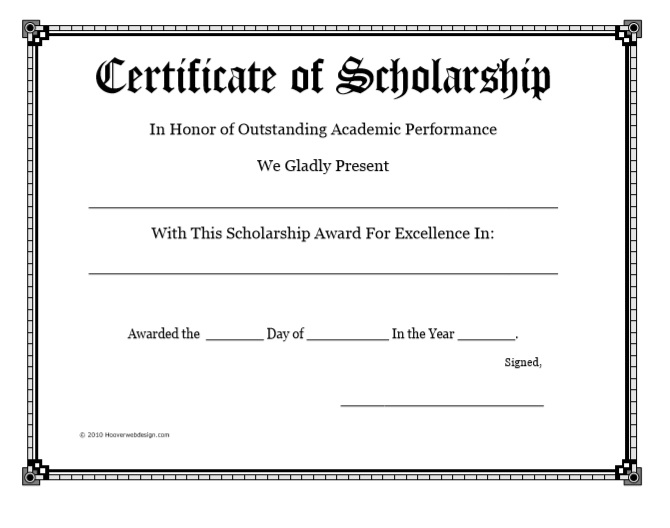 13 Free Scholarship Certificate Templates