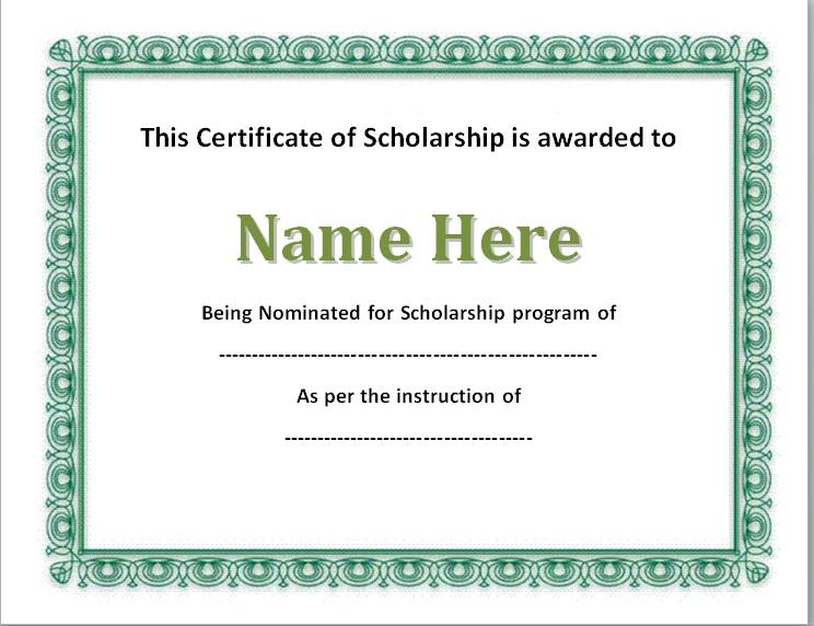 scholarship certificate template 06