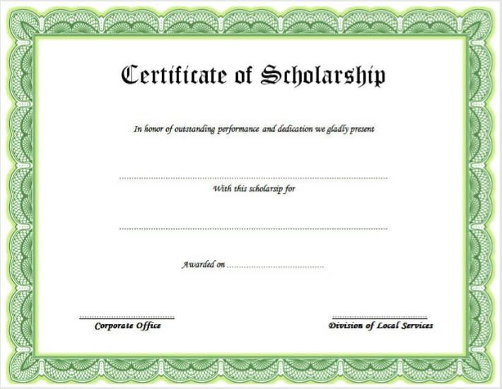 scholarship certificate template 07