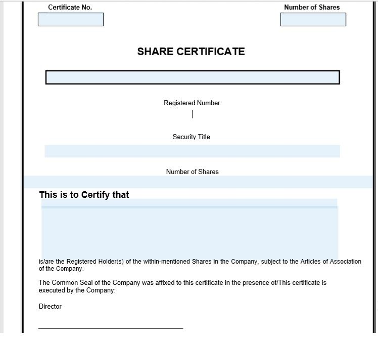 Stock Shares Certificate Template 11