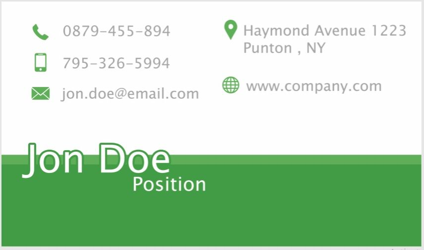Visiting Card Template 09
