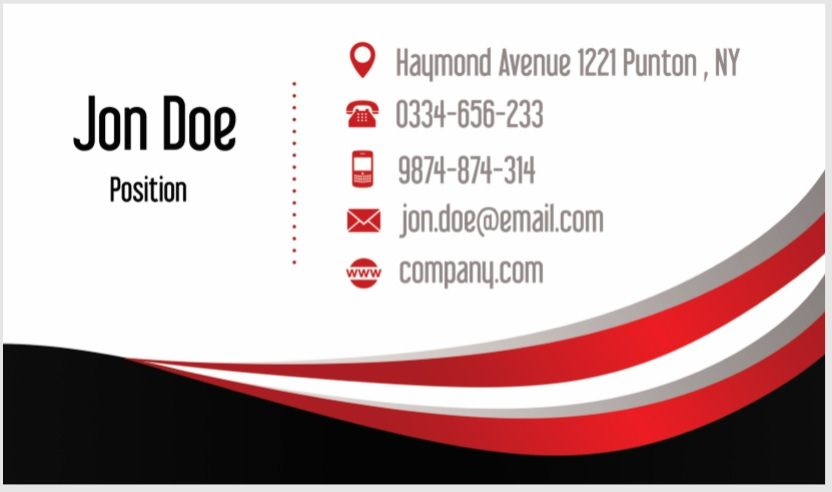 Visiting Card Template 10