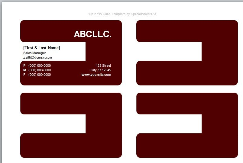 Visiting Card Template 13