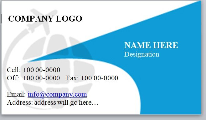 Visiting Card Template 14