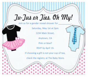 Gender Reveal Invitation Template 02