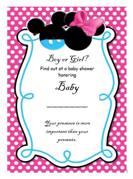 Gender Reveal Invitation Template 03