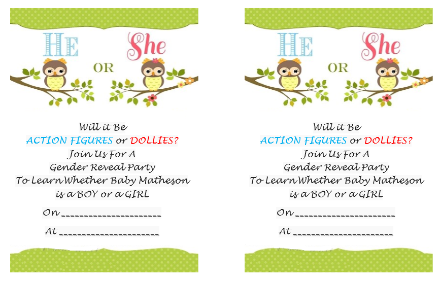 Gender Reveal Invitation Template 04