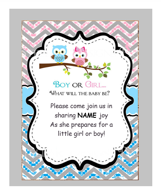 Gender Reveal Invitation Template 09