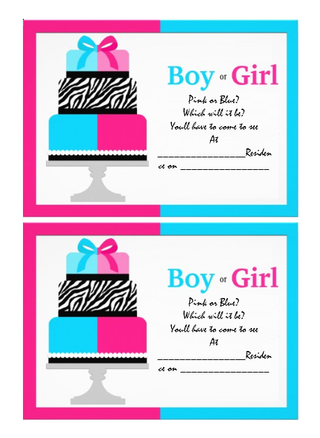 Gender Reveal Invitation Template 16