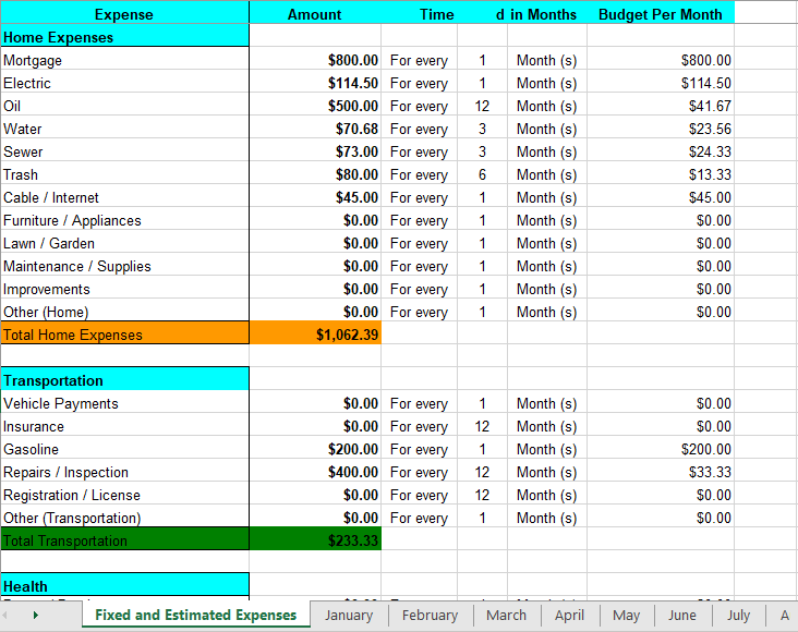Personal Budget Template 07