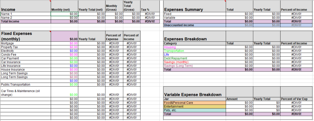 Personal Budget Template 14